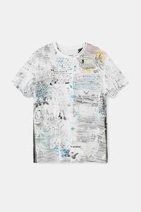 Baumwoll-Shirt auf Links gedreht
