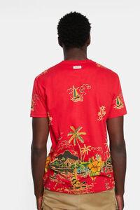Tropisches Basic-T-Shirt