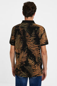 Tropisches Piqué-Poloshirt