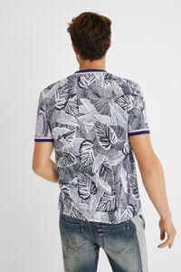Tropisches T-Shirter Jacquard