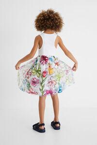 Kurzes Hybrid-Kleid Ringerrücken