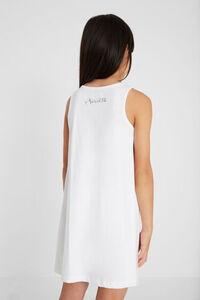 Kurzes Kleid Tüll-Stofflage