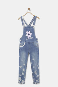 Lange Jeans-Latzhose Spitze