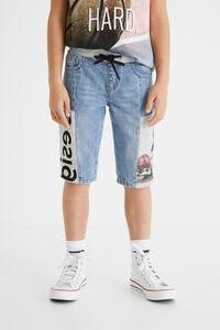 Kurze Hose Sweatstoff Jeans