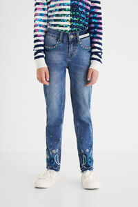 Jeanshose Regular Fit Paisley