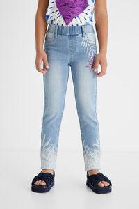 Jeans-Leggings Aufdruck