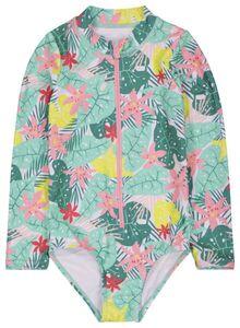 HEMA Kinder-Badeanzug, Langarm, Blumen Bunt