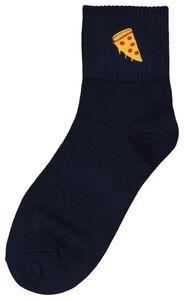 HEMA Socken, Größe 36-41, Cheesy Pizza, Blau