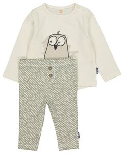 HEMA Newborn-Set, T-Shirt Mit Hose Grün