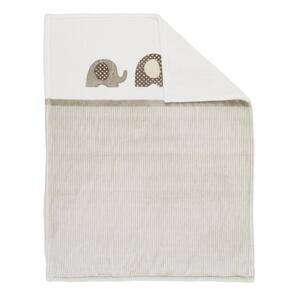 Alvi Schmusedecke , 93184-323-6 , Taupe, Beige , Textil , Elefant , 75x100 cm , pflegeleicht , 004507001207