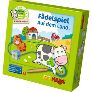 Haba Fädelspiel auf dem land , 5580 , Mehrfarbig , Holz, Textil , 22.8x7x22 cm , 005423005901