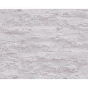 XXXLutz Vliestapete 10,05 m , 959081 , Grau, Hellgrau , Textil , Steine , 53x1005 cm , Vliesstoff , 006407003101