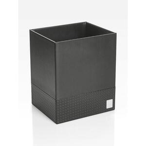 Joop! Papierkorb , 010980411 Joop! Bathline , Schwarz , Kunststoff , 25x30x21 cm , geprägt , 007645013002