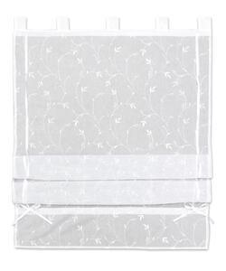Bändchenrollo Romantic in Weiß ca. 80x140cm