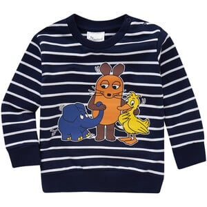 Die Maus Sweatshirt im Ringel-Look