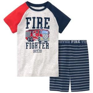 Jungen Shorty mit Feuerwehr-Motiv