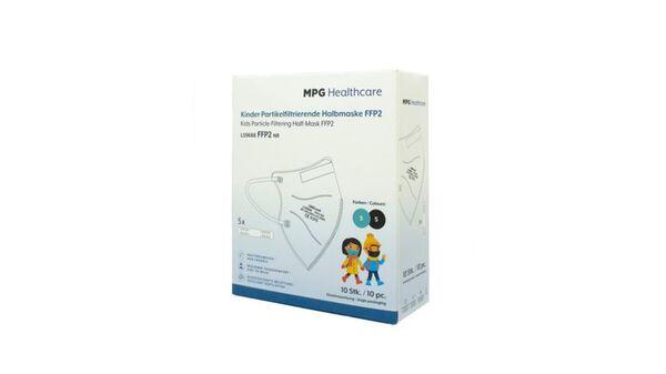 MPG Healthcare Mundschutz FFP2 für Kinder Schwarz/Türkis