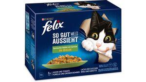 felix Katzennassfutter So gut wie es aussieht in Gelee Gemischte Vielfalt mit Gemüse 12x85g