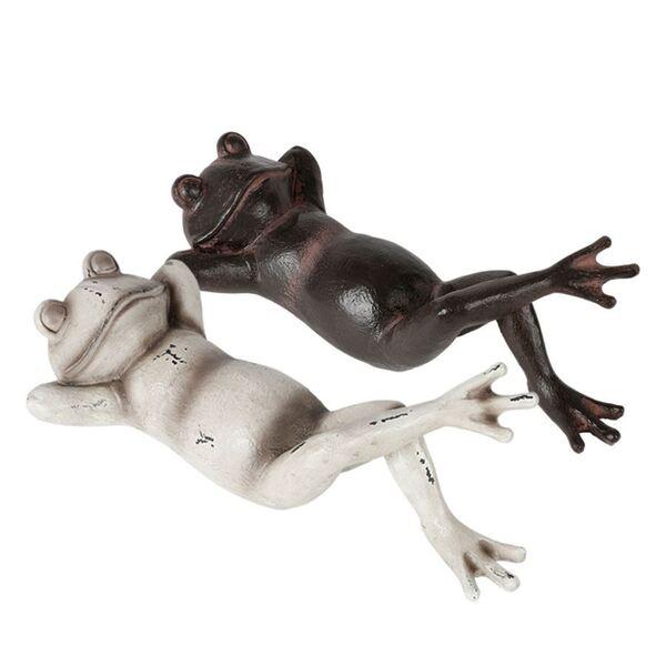 Dekofigur Liegender Frosch 38x9,5x17cm