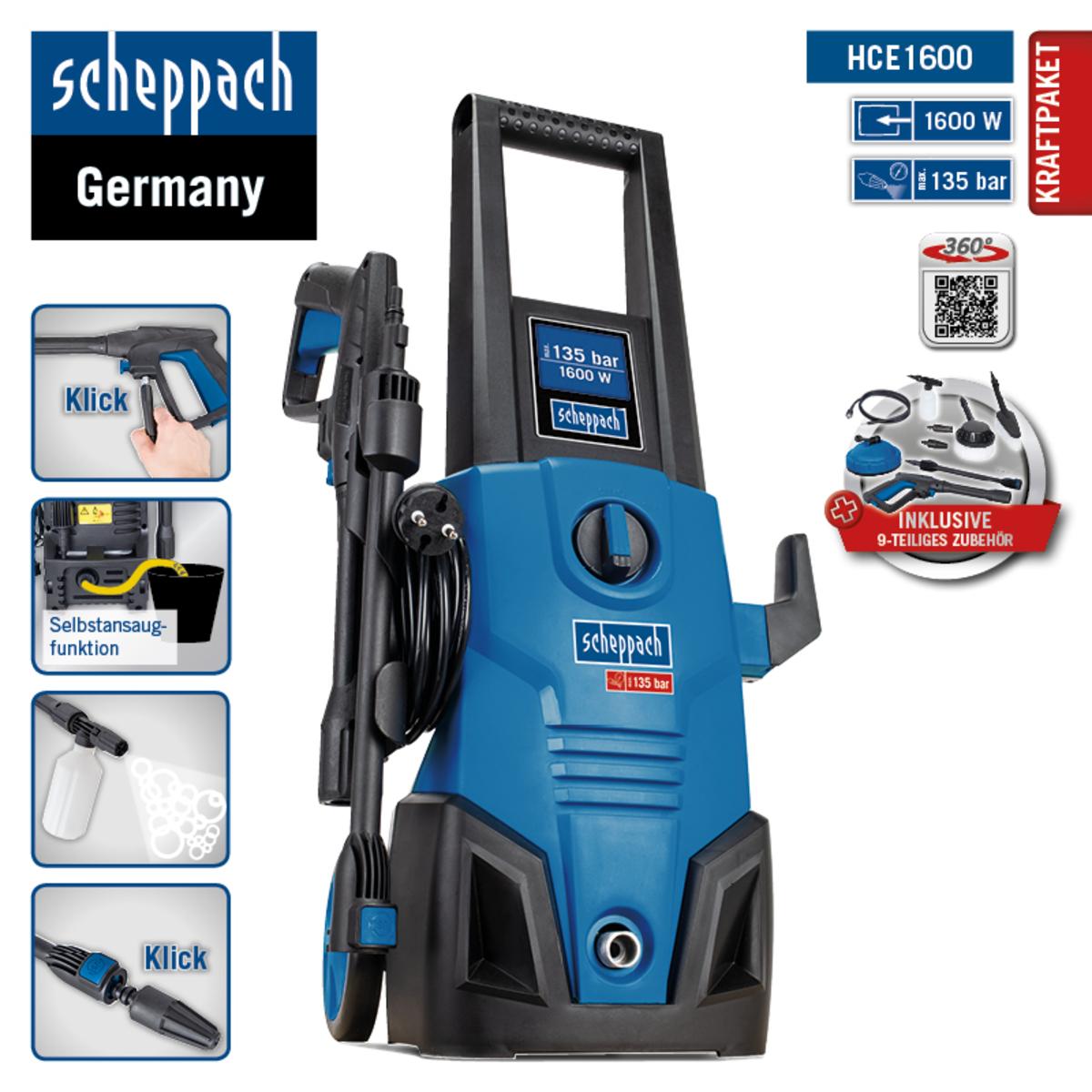 Bild 3 von Scheppach Hochdruckreiniger HCE1600 SE