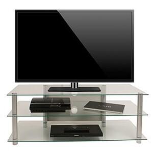 "VCM TV-Möbel ""Netasa"", Alu/Klarglas"
