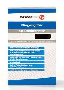 Powertec Insektenschutz Fliegengitter für Dachfenster, ca. 140 x 170 cm - Schwarz