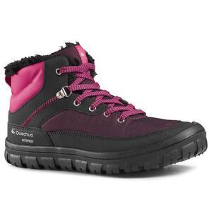 Wanderschuhe Winterwandern SH500 Warm Schnürung Kinder rosa