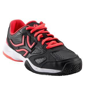 Tennisschuhe TS560 Kinder schwarz/rosa