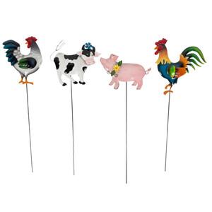 Gartenstecker 60 cm mit Tiermotive und Erdspieß