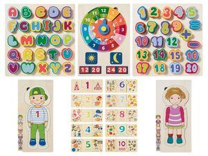 PLAYTIVE® Lernpuzzle, aus Echtholz
