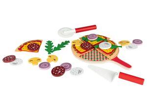 PLAYTIVE® Pizza Set, 35-teilig, mit Echtholzelementen