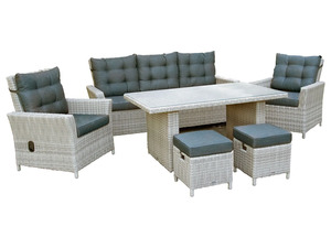 bellavista - Home & Garden®  Alu-Luxus Dining-Set »Asti«, 6-teilig