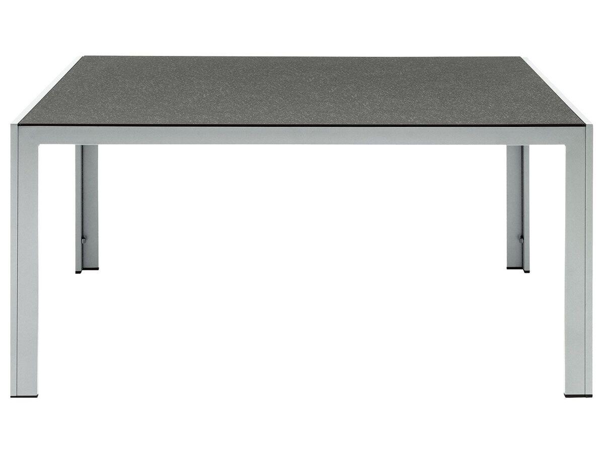 Bild 7 von FLORABEST Alu-Gartenmöbelset mit Standardtisch & Klappsessel, 7-teilig, Grau