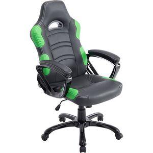 CLP Bürostuhl RICARDO XL mit hochwertiger Polsterung und Kunstlederbezug I Höhenverstellbarer Drehstuhl I In verschiedenen Farben erhältlich... schwarz/grün
