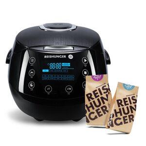Digitaler Reishunger Reiskocher Bundle, 860W, 1,5l DRK Bundle schwarz, Glutenfrei