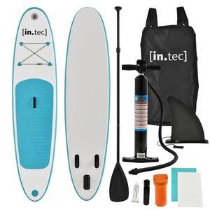 in.tec Stand Up Paddle Board SUP Bidart Surf Board Aufblasbar bis 85kg Türkis