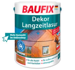BAUFIX Dekor Langzeitlasur oder Wetterschutz Holzgel