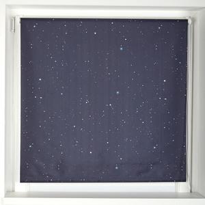 Verdunkelungsrollo Sternenhimmel (90x220, dunkelblau)