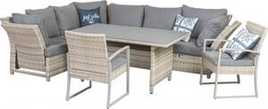 Primaster Dining Lounge Möbelset Tulum inkl. Allwetter Sitz und Rückenkissen