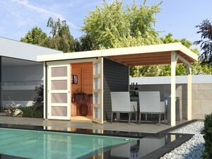 Karibu Gartenhaus »Trundholm 1«, mit verglaster Doppeltür, inklusive Schleppdach