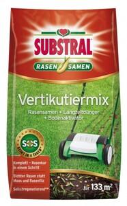 Substral Vertikutiermix ,  4 kg, für 133 m², Rasensamen, Dünger, Bodenaktivator