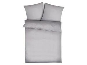 Face-2-Face Satin Bettwäsche »Uni Puntini silver grey«, verschiedene Größen, aus Baumwolle