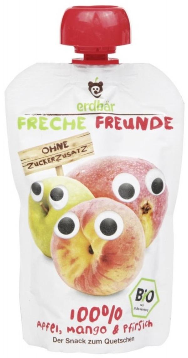 Erdbär Bio Freche Freunde Apfel, Mango & Pfirsich 100 g