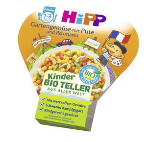 Hipp Bio Kinder-Teller aus aller Welt Gartengemüse mit Pute und Rosmarin 1-3 Jahre 250 g