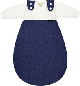 Baby-Mäxchen 3tlg. Jersey Hearts navy Gr. 50/56 blau