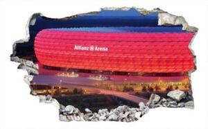 3D Wandtattoo FCB Allianz Arena, 60 x 36 cm