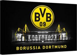Leinwandbild BVB Signal Iduna Park bei Nacht, 100 x 70 cm mehrfarbig Gr. 70 x 100