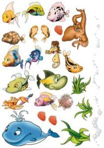 Wandtattoo XL Unterwasserwelt, 40-tlg. mehrfarbig