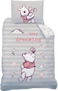 Kinderbettwäsche Winnie Puuh Dreaming, Flanell, 100 x 135 cm + 40 x 60 cm weiß Gr. 100 x 135 + 40 x 60