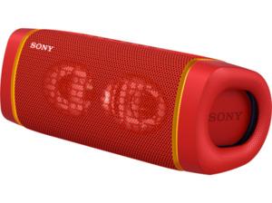 SONY SRS-XB33 tragbar, kabellos, Lautsprecherbeleuchtung, EXTRA BASS Bluetooth Lautsprecher, Rot, Wasserfest